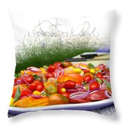 Picnic Fresh Salad Throw Pillow