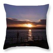 Picnic Sunset Vancouver Island Throw Pillow