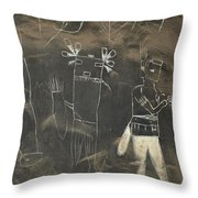 Pictograph 3 Throw Pillow