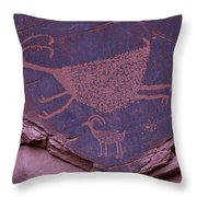 Pictograph Monument Valley Throw Pillow by Garry Gay