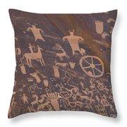 Pictographs 1 Throw Pillow