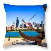 Picture Of Chicago Adler Planetarium Sundial Throw Pillow