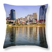 Picture Of Cincinnati Skyline And Ohio River Throw Pillow