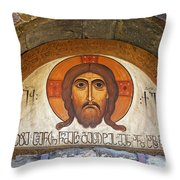 Picture Of Jesus Inside The Tsminda Sameba Cathedral Tbilisi Throw Pillow by Robert Preston