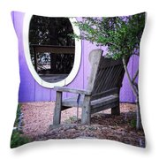 Picture Perfect Garden Bench Throw Pillow