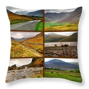 Autumn Picture Window Of The Lake District Throw Pillow