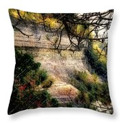 Pictured Rocks In Pastel Throw Pillow