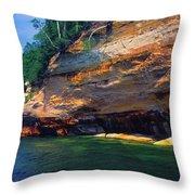 Pictured Rocks National Lakeshore, Lake Throw Pillow