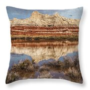Picturesque Blue Canyon Formations Throw Pillow