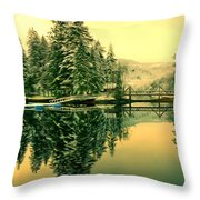 Picturesque Norway Landscape Throw Pillow