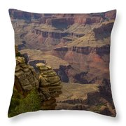 Picturesque View Of The Grand Canyon Throw Pillow