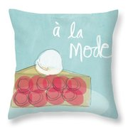 Pie A La Mode Throw Pillow