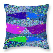 Pie Chart Twirl Tornado Colorful Blue Sparkle Artistic Digital Navinjoshi Artist Created Images Text Throw Pillow