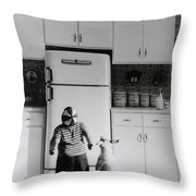 Pie In The Sky In Black And White Throw Pillow