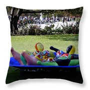 Piece Of Art Near The Musee Du Louvre In Paris France  Throw Pillow