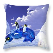 Piece Of Ice Throw Pillow
