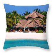 Piece Of Paradise. Maldives Throw Pillow