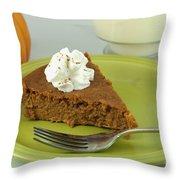 Piece Of Pumpkin Pie Throw Pillow