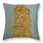 Pieced Sculpture From Perge In Antalya Archeological Museum-turkey Throw Pillow