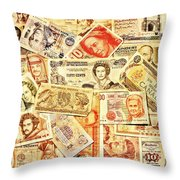 Pieces Of Paper Throw Pillow