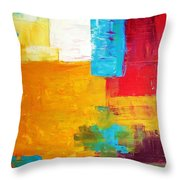 Pieces Throw Pillow by Venus