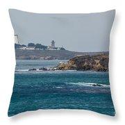 Piedras Blancas Lighthouse A2155 Throw Pillow
