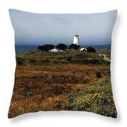 Piedras Blancas Lighthouse Throw Pillow