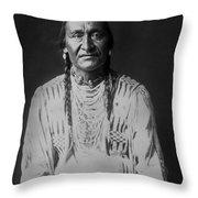 Piegan Indian Man Circa 1910 Throw Pillow by Aged Pixel