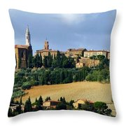 Pienza A Hill Town In Tuscany Throw Pillow