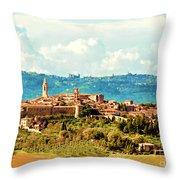 Pienza Italy Throw Pillow