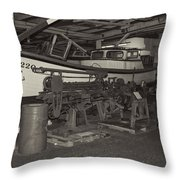 Pier 39 Astoria Oregon2  Throw Pillow