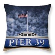 Pier 39 Throw Pillow by Dave Bowman
