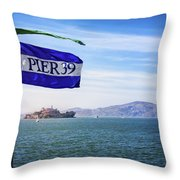 Pier 39 Throw Pillow