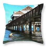 Pier 60 - Clearwater Florida  Throw Pillow