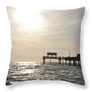Pier 60  Near Sunset Throw Pillow