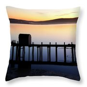 Pier At Bodega Bay California Throw Pillow