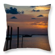 Pier At Buttonwood Sound Throw Pillow
