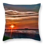 Pier At Dawn 167 Throw Pillow