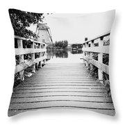 Pier At Kinderdjik Throw Pillow