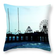Pier Atlantic City Throw Pillow