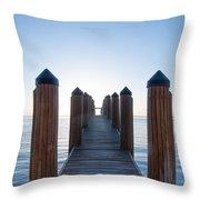 Pier By Sea Throw Pillow