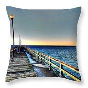 Pier - Chesapeake Bay Bridge #1 Throw Pillow