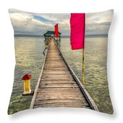 Pier Flags Throw Pillow