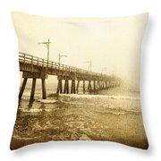Pier In A Storm Throw Pillow