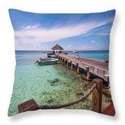 Pier Into Blue. Resort Vivanta By Taj Throw Pillow