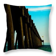Pier Into The Horizon Throw Pillow