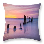 Pier Into The Past 16x9 Throw Pillow