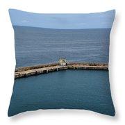 Pier Less Traveled Throw Pillow