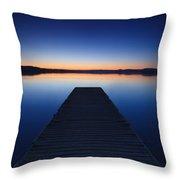 Pier On The Lake Throw Pillow