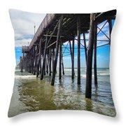 Pier Out Throw Pillow